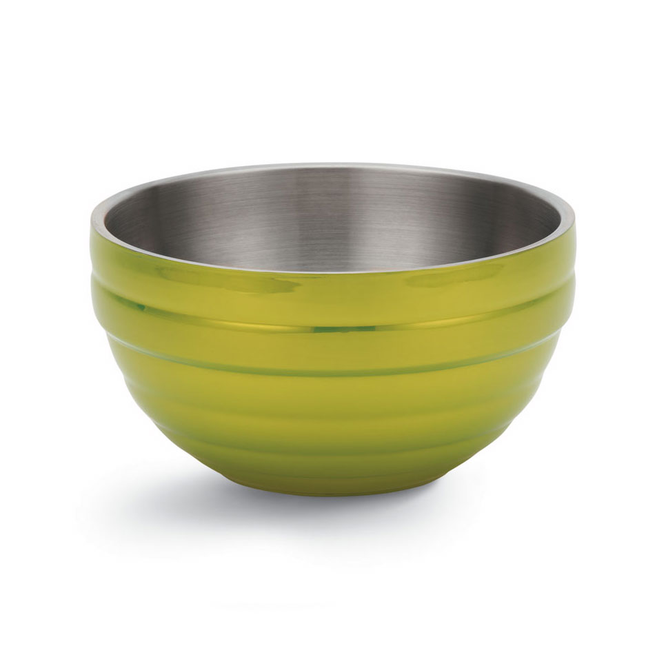 Vollrath 46592-30 6.9-qt Round Insulated Bowl - 18-ga Stainless, Lemon-Lime