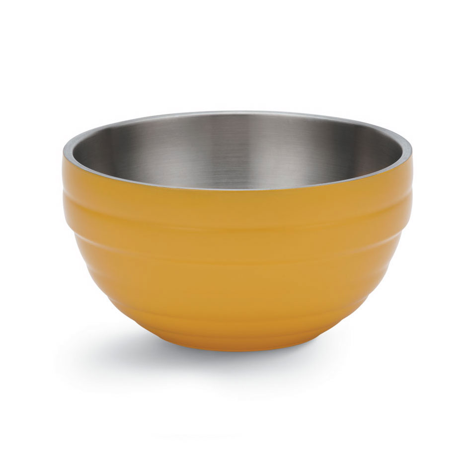 Vollrath 46592-45 6.9-qt Round Insulated Bowl - 18-ga Stainless, Nugget Yellow