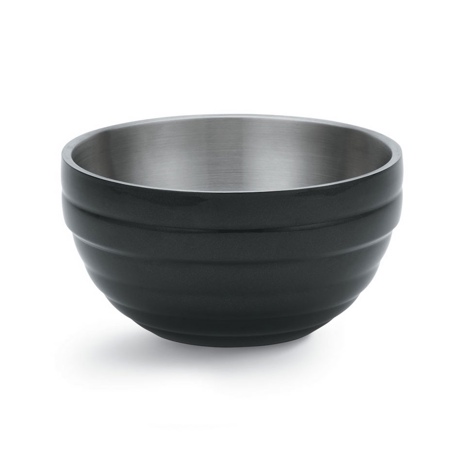 Vollrath 46592-60 6.9-qt Round Insulated Bowl - 18-ga Stainless, Black