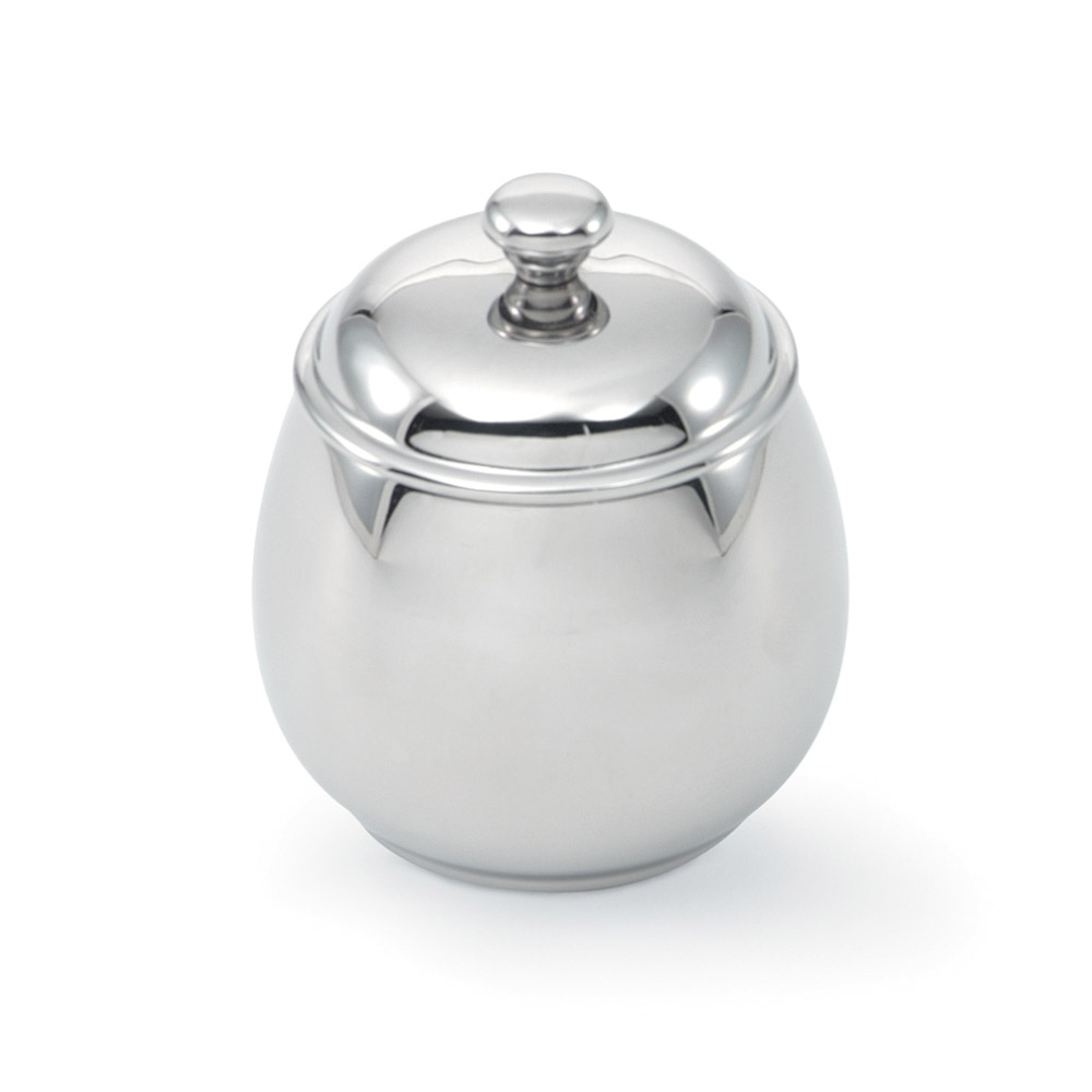 Vollrath 46597 12-oz Sugar Server with Lid - Mirror-Finish Stainless