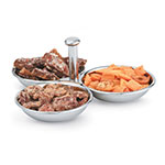Vollrath 46636 3-Compartment Condiment Server - 12-oz Capacity, Mirror-Finish Stainless
