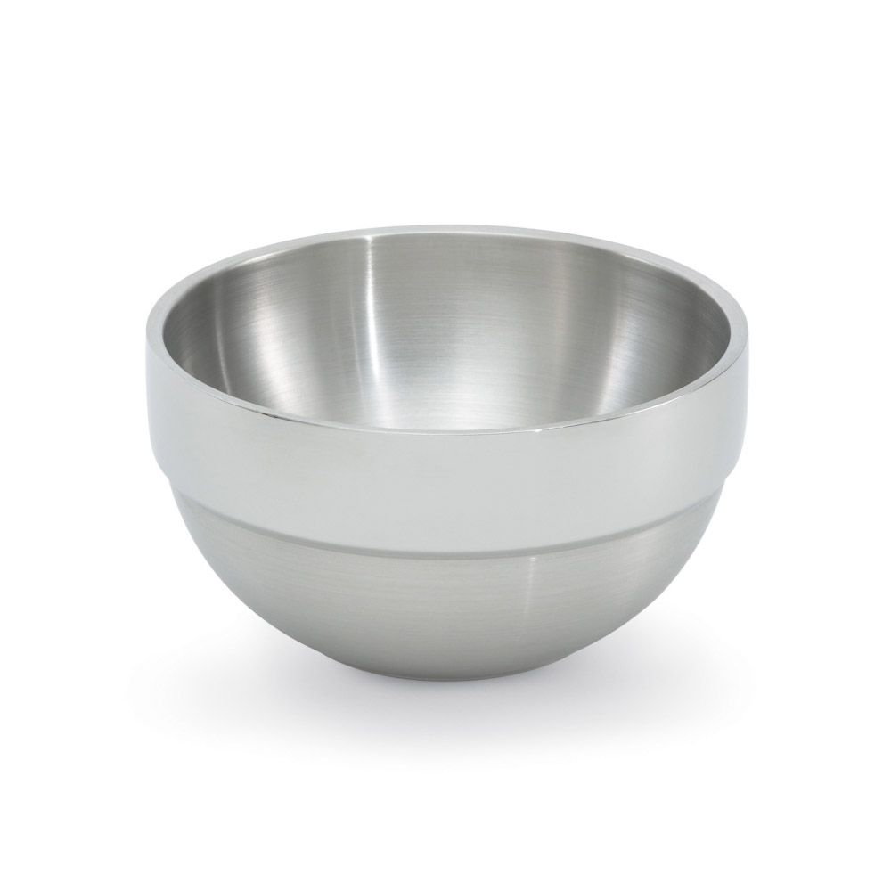 Vollrath 46666 1.7-qt Round Insulated Bowl - Mirror-Finish Stainless