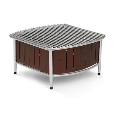 "Vollrath 4667470 Buffet Station w/ Wire Grill - 16"" x 16"", Brown"