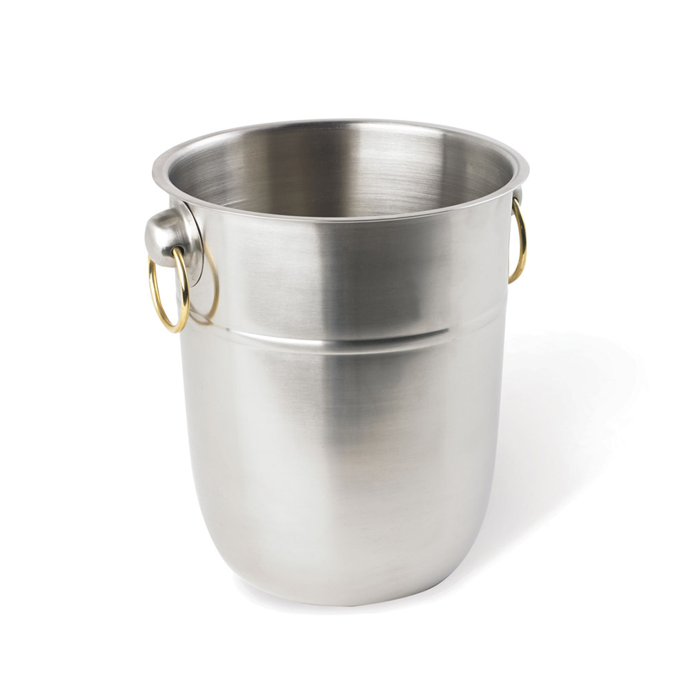 Vollrath 46801 8-qt Wine Bucket - Brass Ring Handles, Stainless