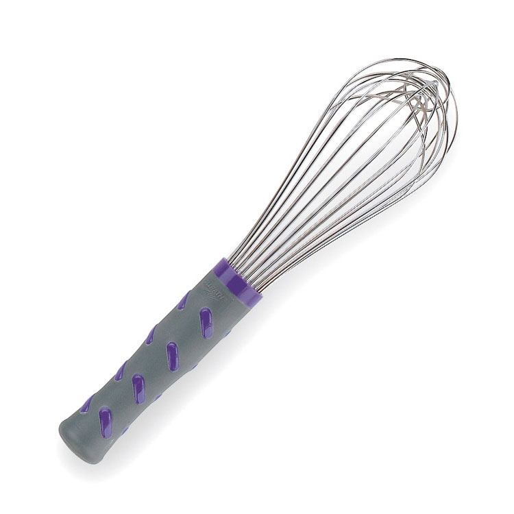 "Vollrath 47002 10"" Piano Whip - Purple Nylon Handle, Stainless"