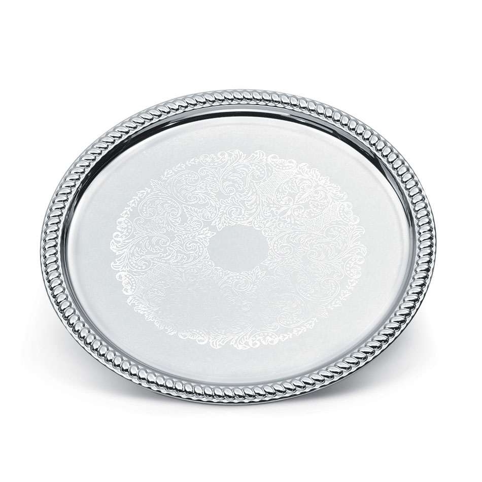 "Vollrath 47262 14"" Round Serving Tray - Chrome Plated"