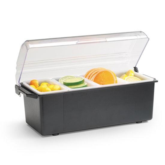 Vollrath 4741-06 4-Pt Condiment Dispenser Standard Lid - Plastic, Black