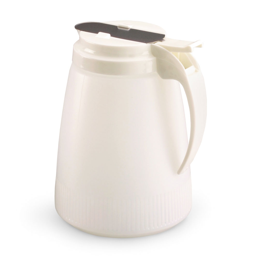 Vollrath 4748-05 48-oz Syrup Server - White Poly Jar, White Plastic Top