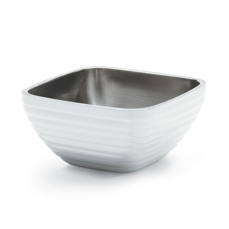 Vollrath 47619-50 .75-qt Square Insulated Bowl - Stainless, Pearl White