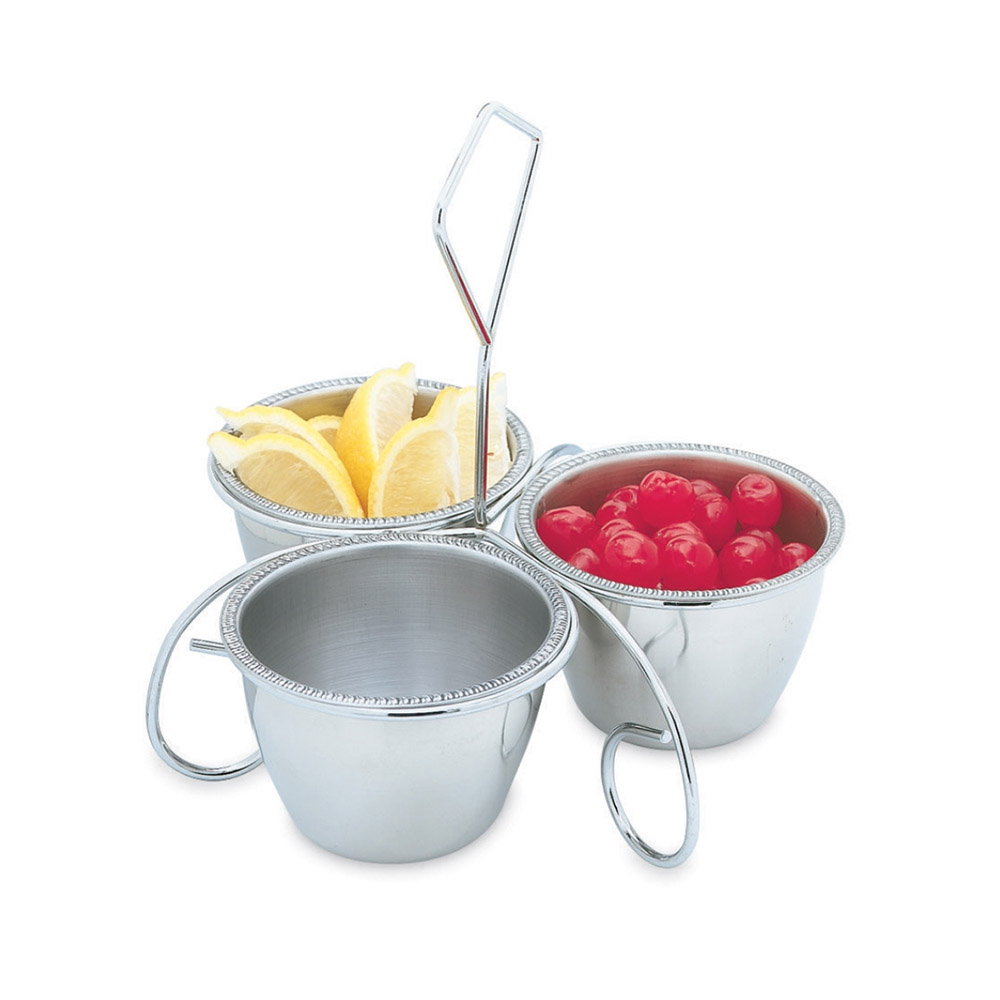 Vollrath 47633 Three-Way Server - (3)10-oz Bowls, Stainless
