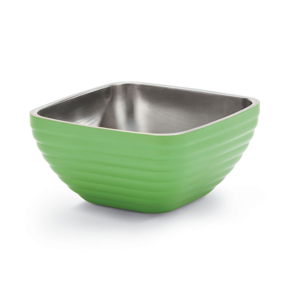 Vollrath 47637-35 8.2-qt Square Insulated Bowl - Stainless, Green Apple
