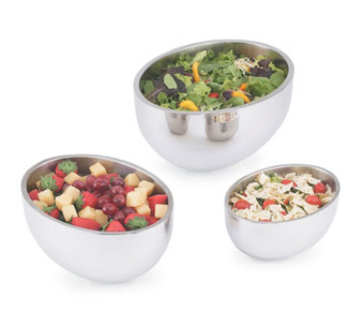 Vollrath 47654 Oval Insulated Double Wall Display Bowl 3.8 qt Restaurant Supply