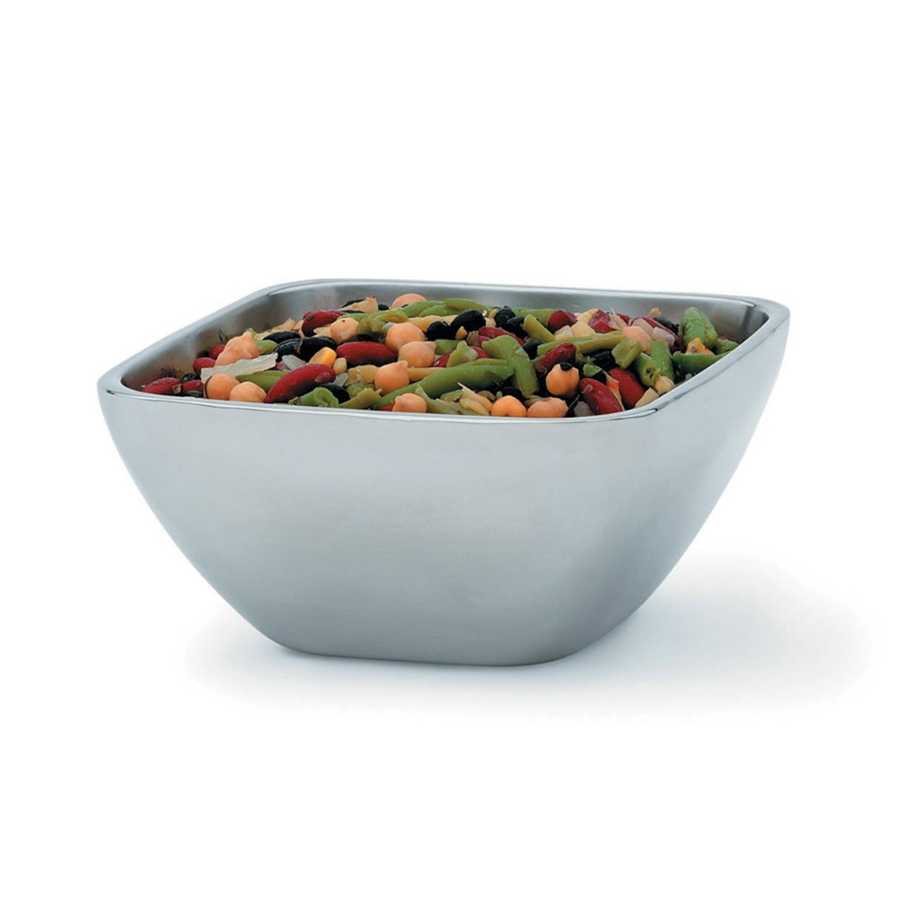 Vollrath 47672 1.8-qt Square Plain Insulated Bowl - Mirror-Finish Stainless
