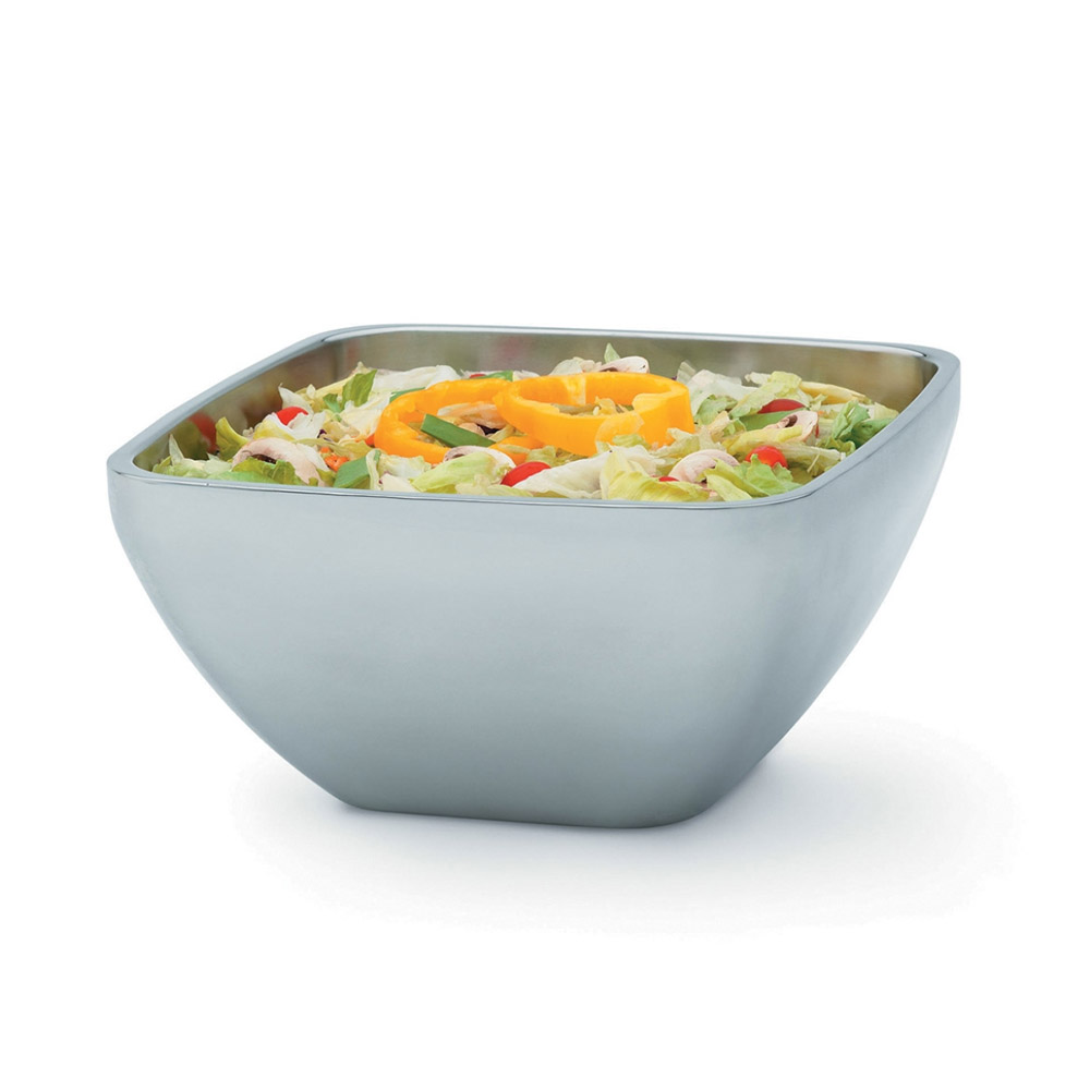 Vollrath 47677 8.4-qt Square Plain Insulated Bowl - Mirror-Finish Stainless