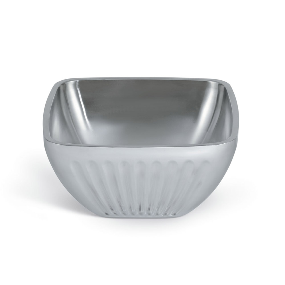 Vollrath 47683 5.2-qt Square Plain Insulated Bowl - Satin-Finish Stainless