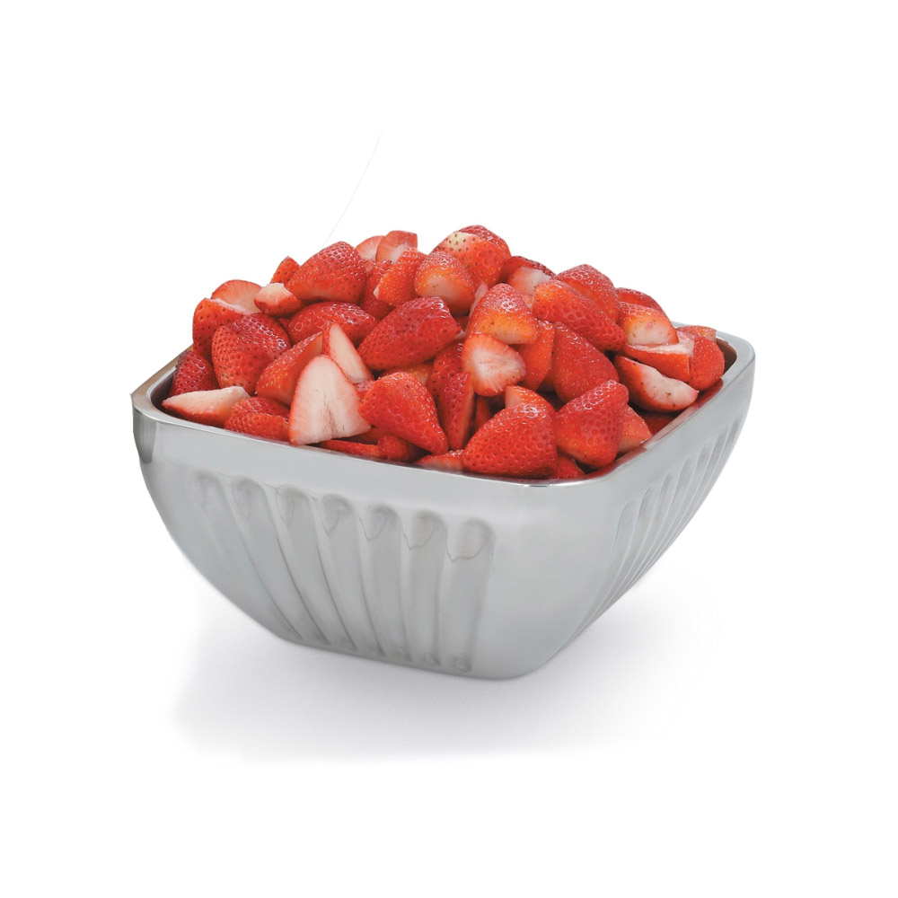 Vollrath 47684 8.2-qt Square Plain Insulated Bowl - Satin-Finish Stainless