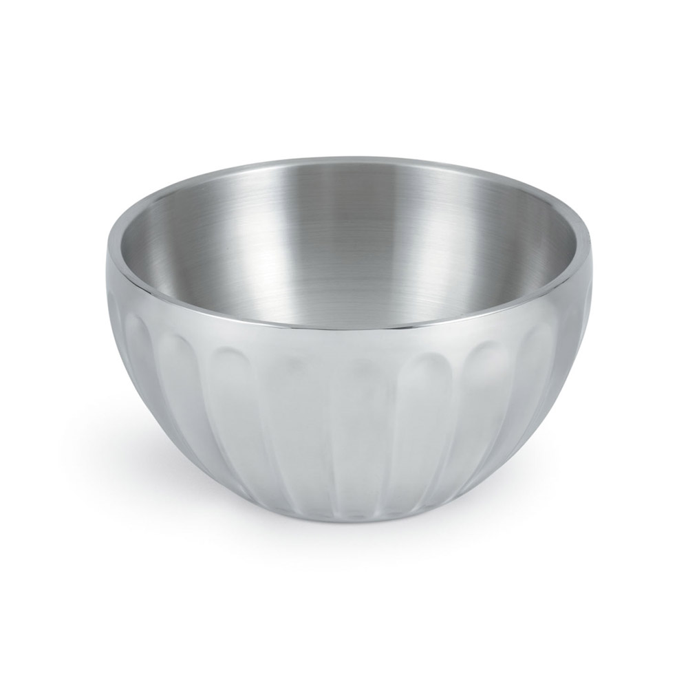 Vollrath 47689 10.1-qt Round Insulated Serving Bowl - Mirror-Finish Stainless