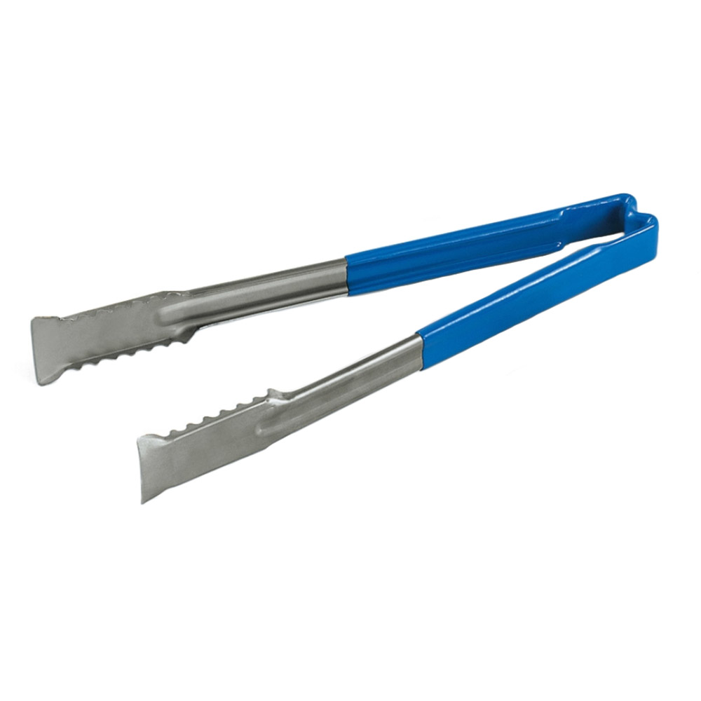 "Vollrath 4780930 9-1/2"" Utility Tong - Stainless, Blue"
