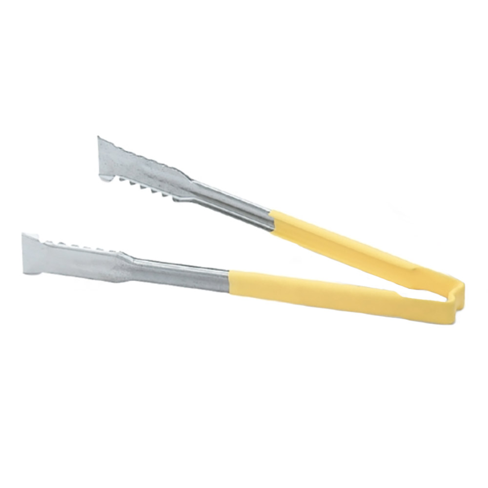"Vollrath 4791250 12"" VersaGrip Tong - 20-ga Stainless, Yellow"