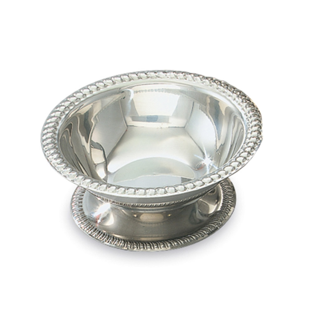 Vollrath 48003 3-1/2-oz Sherbet Dish - Gadroon Top and Base, Stainless