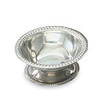 Vollrath 48303 3-1/2-oz Sherbet Dish - Gadroon Top and Base, Silverplated