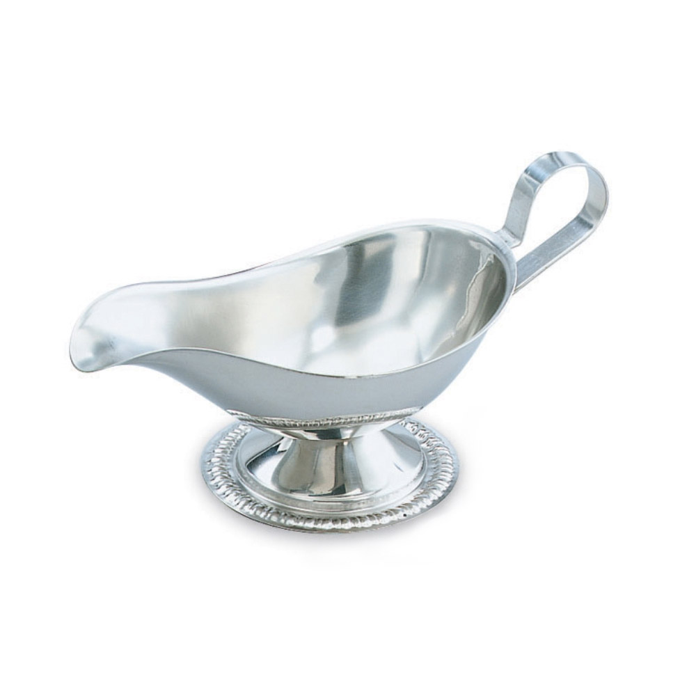 Vollrath 48378 8-oz Gravy/Sauce Boat - Gadroon Base, Silverplated