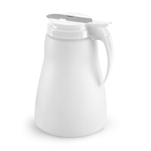 Vollrath 4864-05 64-oz Syrup Server - White Plastic Top, Poly