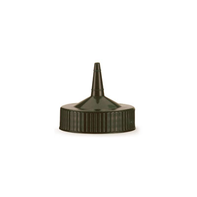 Vollrath 4913-01 Wide Mouth Squeeze Standard Bottle Cap, fits 16-32-oz, Brown