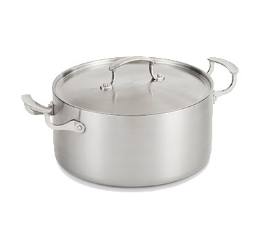 Vollrath 49441 7-qt Casserole w/ Low Dome Cover - Aluminum Bottom, 18-ga Stainless