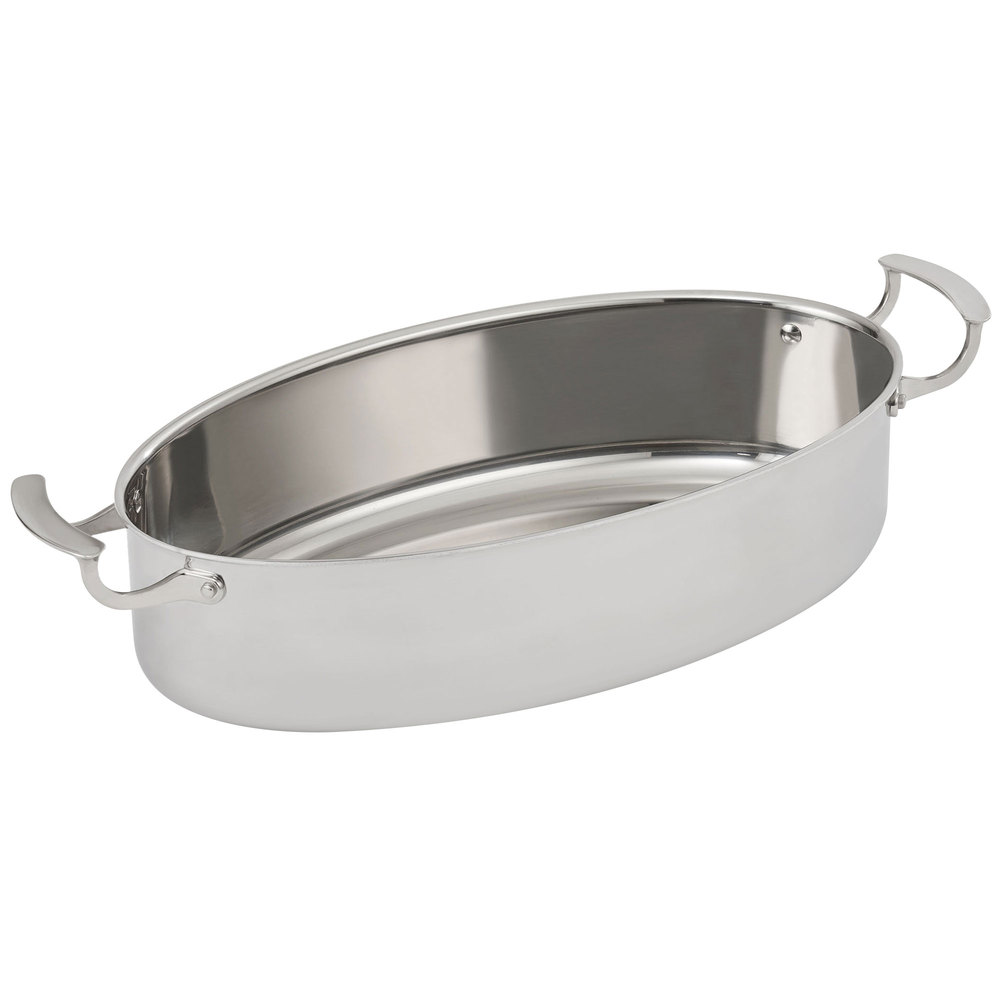 """Vollrath 49445 16"""" Oval Au Gratin Dish, Stainless"""