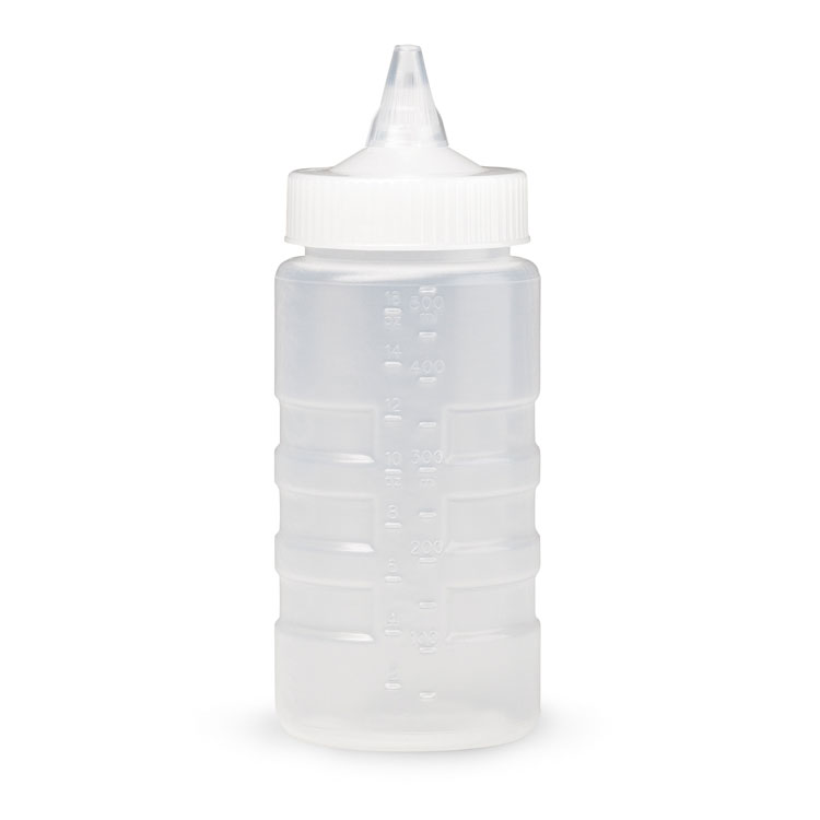 Vollrath 5116-13 16-oz Squeeze Bottle Dispenser - Wide Mouth, Clear Cap, Clear