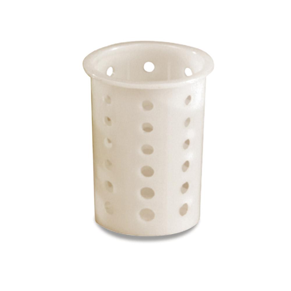 """Vollrath 52642 Flatware Cylinder - 5-5/8"""" White Nylon"""