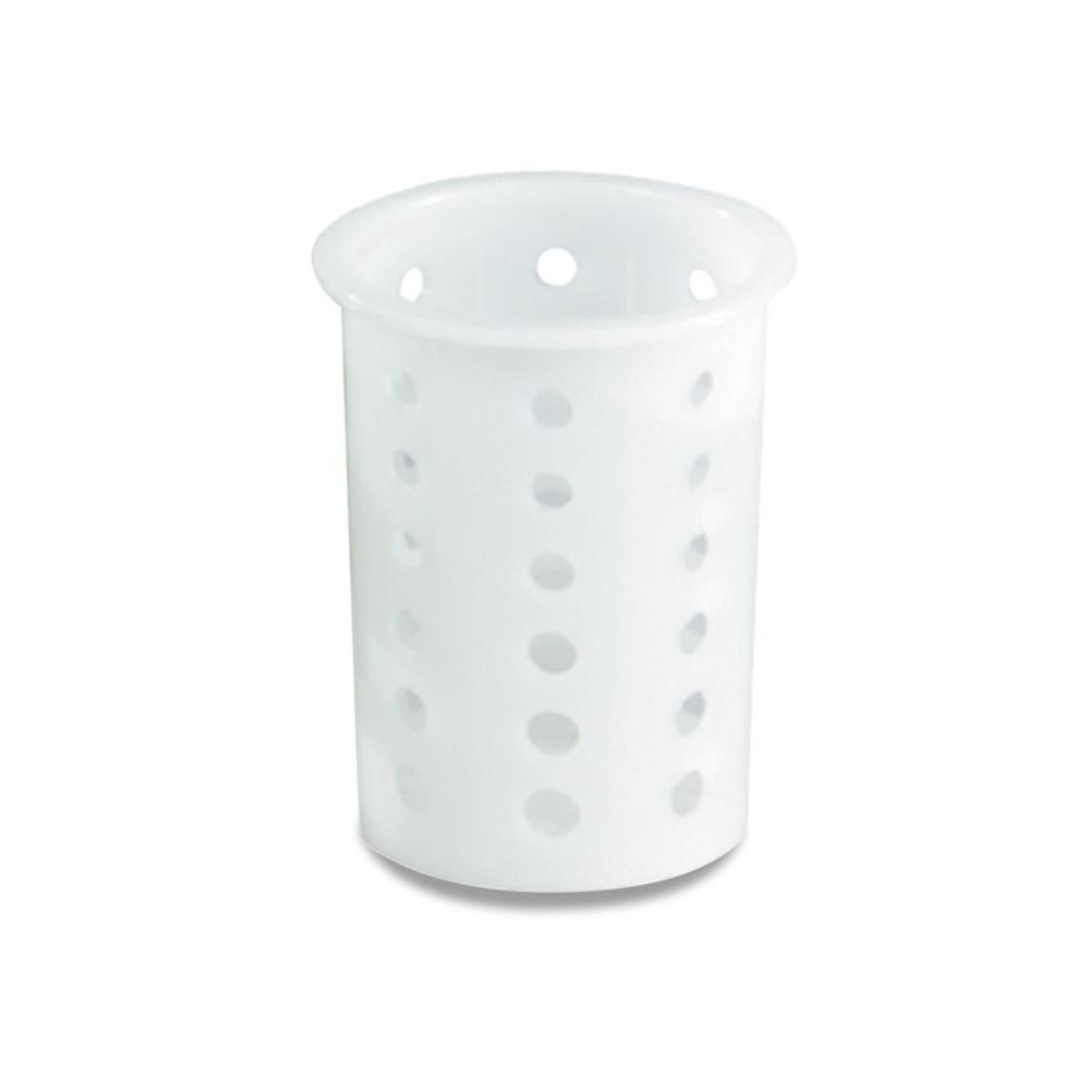 """Vollrath 52643 Flatware Cylinder - 5-5/8"""" White Plastic"""