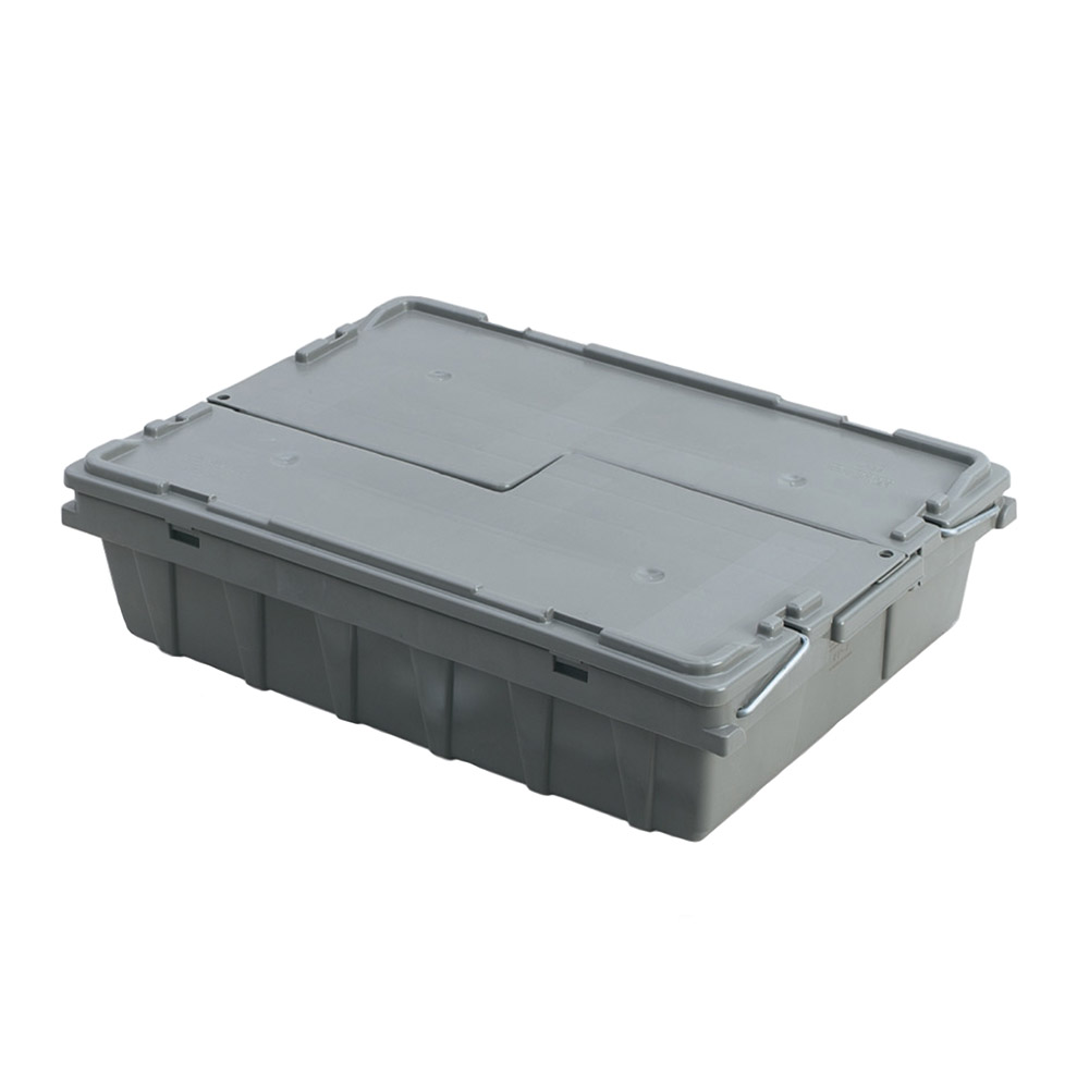 "Vollrath 52649 Tote 'N Store Buffetware Box - 20-1/8x14-1/4x4-5/8"" Gray"