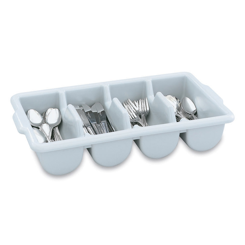 Vollrath 52654 Cutlery Dispenser - 4-Rounded Compartment, Gray