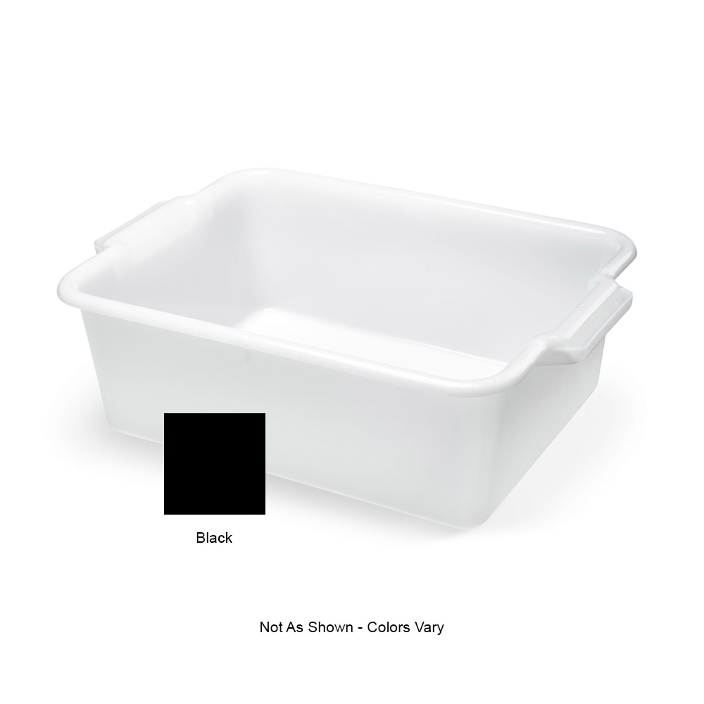 "Vollrath 52660 Heavy-Duty Bus Box - 20x15x7"" Black"
