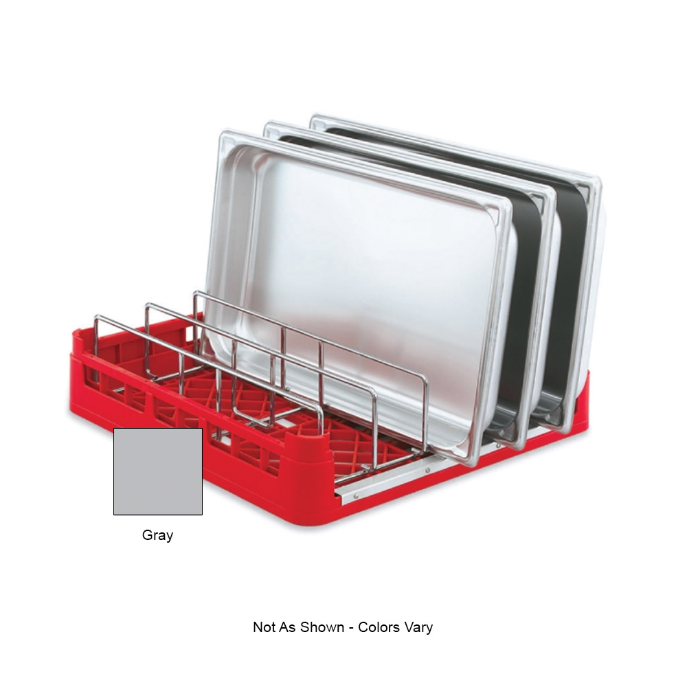 "Vollrath 52669 Open-End Dishwasher Rack with Insert - Full Size, 19-3/4x19-3/4"" Gray"