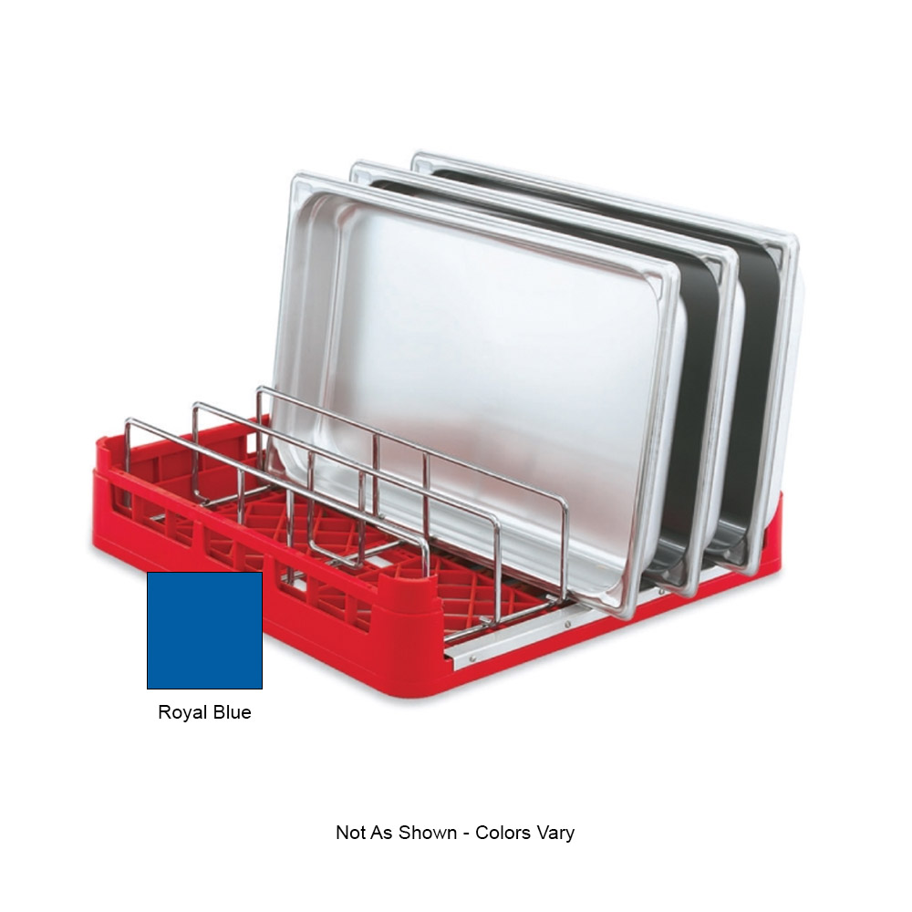 "Vollrath 52669 Open-End Dishwasher Rack with Insert - Full Size, 19-3/4x19-3/4"" Royal Blue"