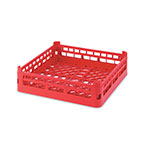 "Vollrath 52670 Open-End Dishwasher Rack - Short, Full-Size, 19-3/4x19-3/4"" Red"