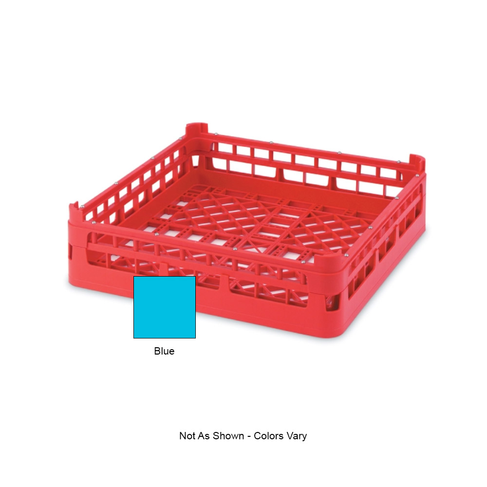 "Vollrath 52670 Open-End Dishwasher Rack - Short, Full-Size, 19-3/4x19-3/4"" Blue"