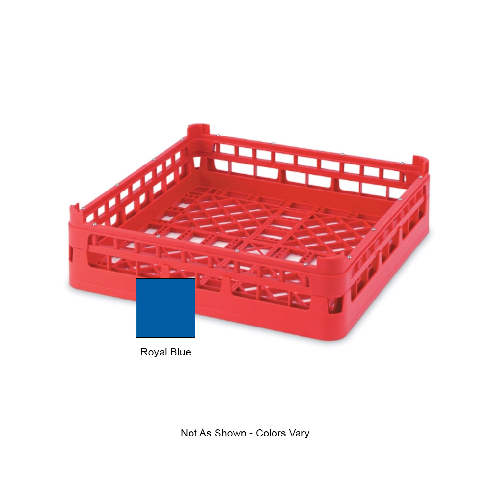 "Vollrath 52670 Open-End Dishwasher Rack - Short, Full-Size, 19-3/4x19-3/4"" Royal Blue"