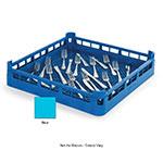 "Vollrath 52671 Dishwasher Flatware Rack - Full-Size, 19-3/4x19-3/4"" Blue"