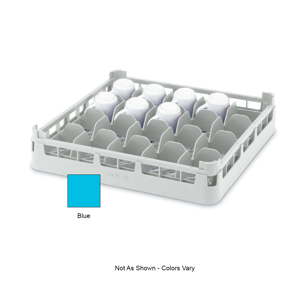 "Vollrath 52674 Dishwasher 16-Cup Rack - Short, Full-Size, 19-3/4x19-3/4"" Blue"