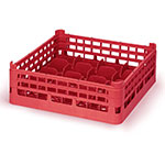 "Vollrath 52675 53 Dishwasher 20-Cup Rack - Short, Full-Size, 19-3/4x19-3/4"" Red"