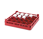 "Vollrath 52676 3 Dishwasher 16-Cup Rack - Medium, Full-Size, 19-3/4x19-3/4"" Red"