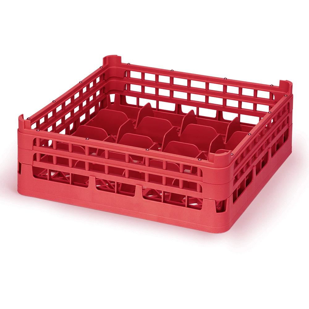 "Vollrath 52676 3 Dishwasher 16-Cup Rack - Medium, Full-Size, 19-3/4x19-3/4"" Red"