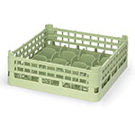 "Vollrath 52677 1 Dishwasher 20-Cup Rack - Medium, Full-Size, 19-3/4x19-3/4"" Green"