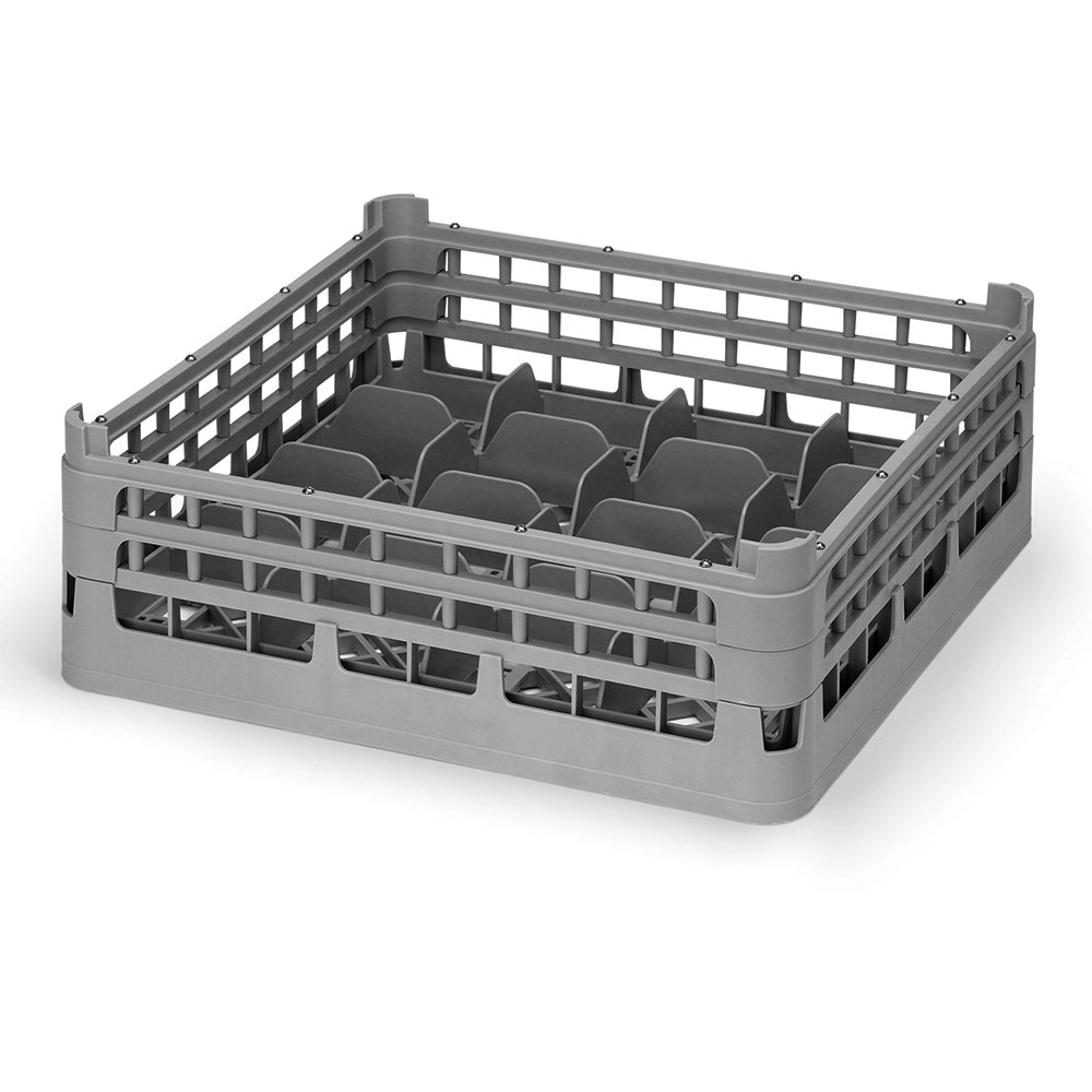 "Vollrath 52677 6 Dishwasher 20-Cup Rack - Medium, Full-Size, 19-3/4x19-3/4"" Gray"