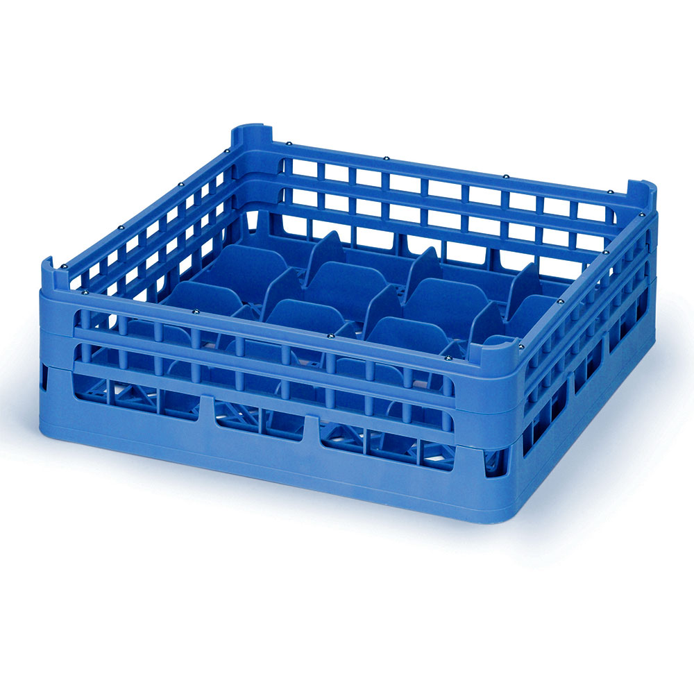 "Vollrath 52677 7 Dishwasher 20-Cup Rack - Medium, Full-Size, 19-3/4x19-3/4"" Royal Blue"