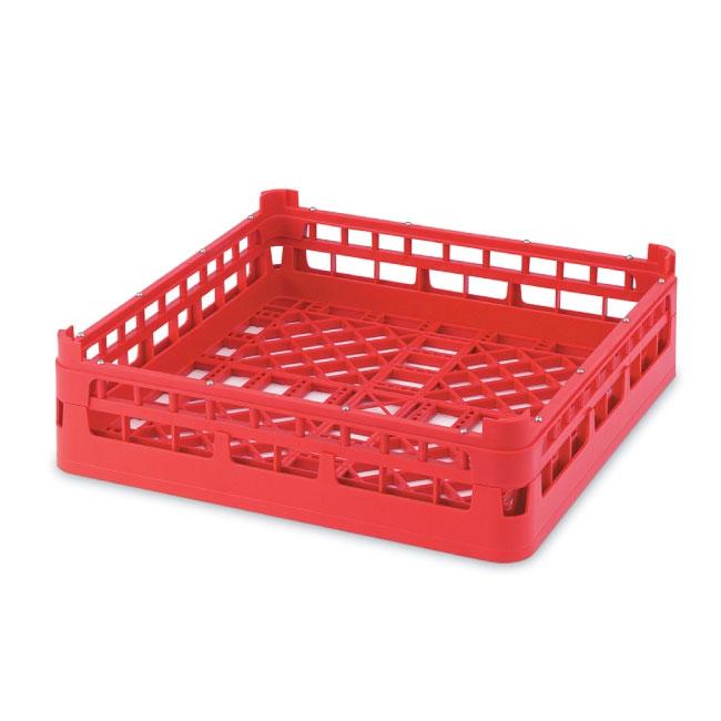 "Vollrath 52680 3 Open Dishwasher Rack - Medium, Full-Size, 19-3/4x19-3/4"" Red"
